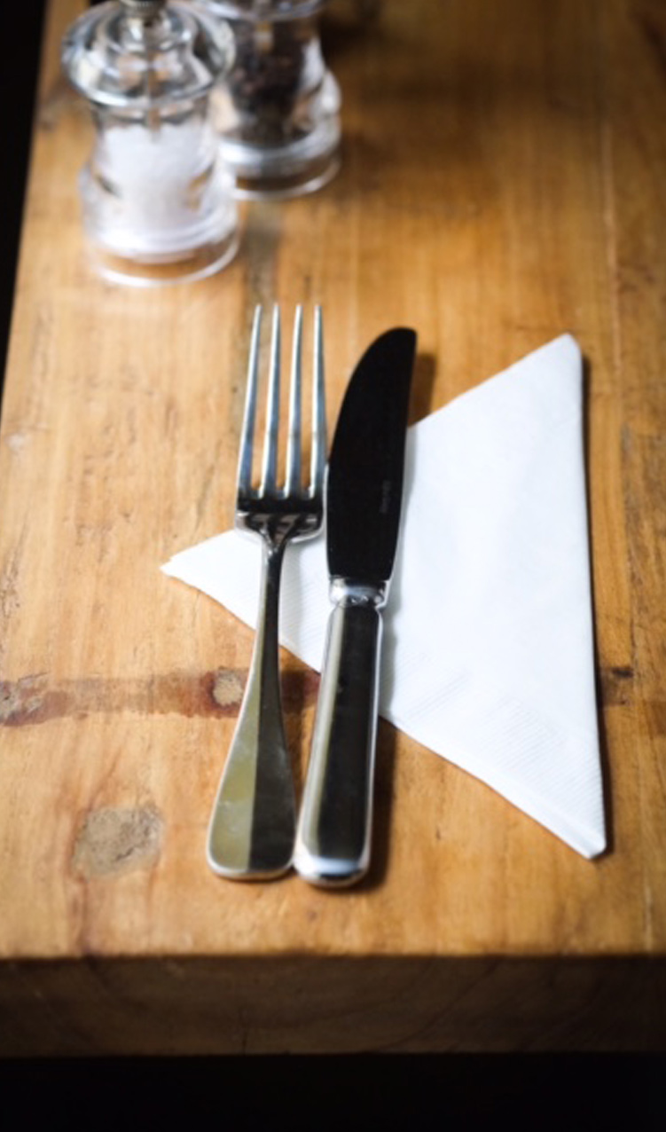 knife and fork photography